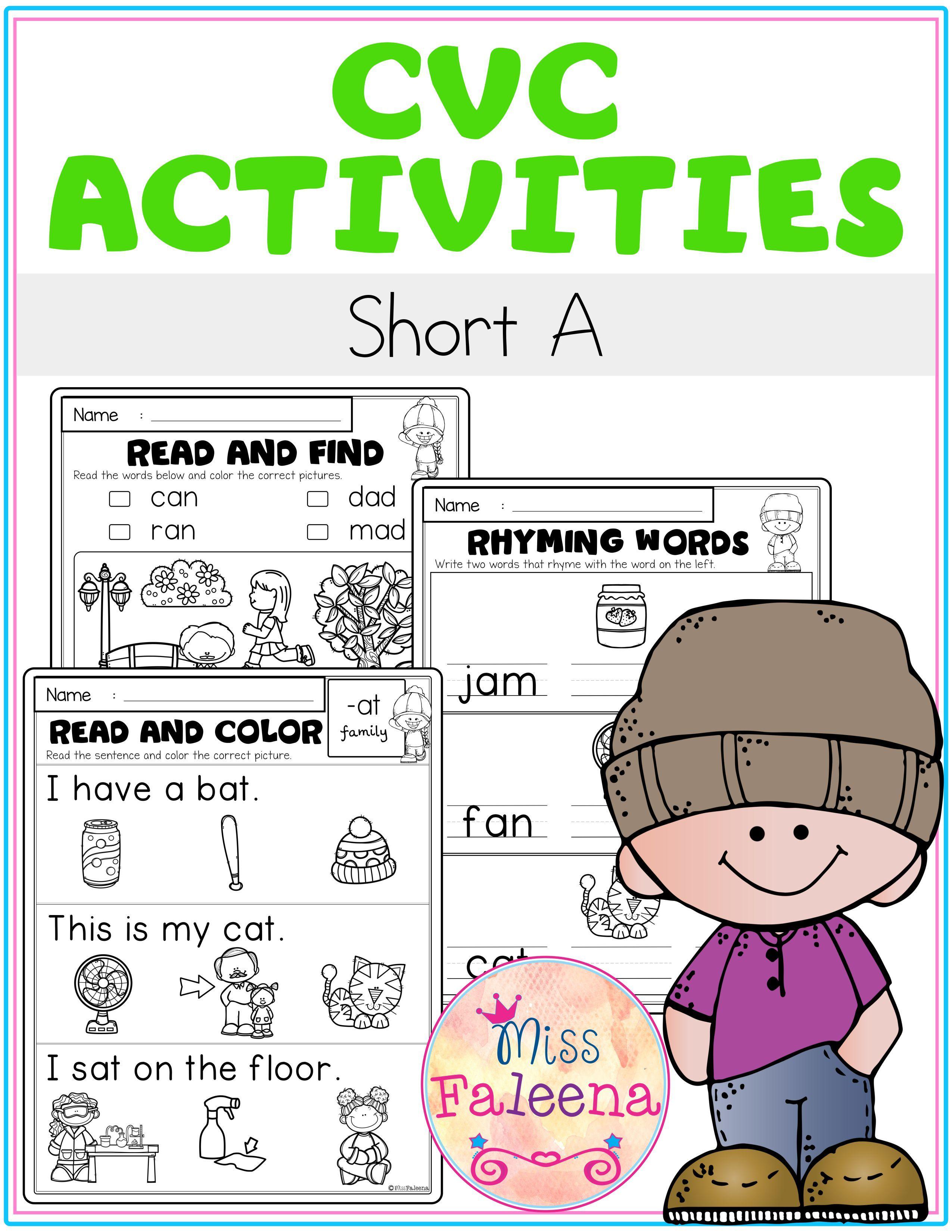 Cvc Activities Short A