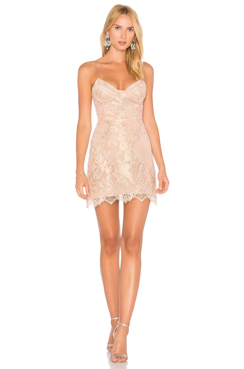 For Love & Lemons Bumble Bustier Dress in Rose Gold | Cute things I ...
