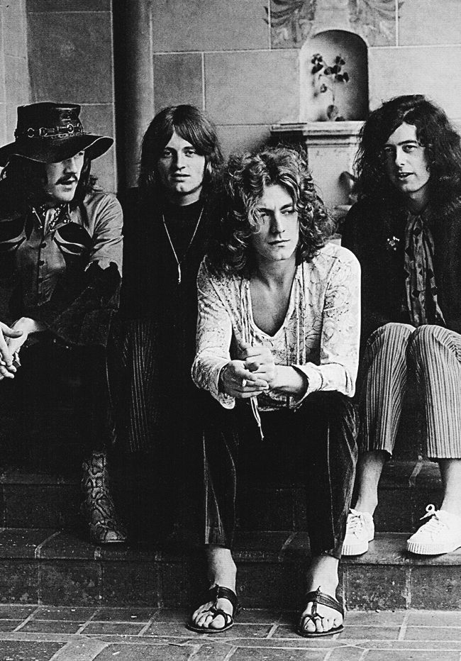 Led Zeppelin at the Chateau Marmont, 1969. Photo by Jay