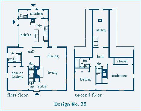 Mckie Roth Design Saltbox Plan Saltbox Houses Floor Plans Colonial House