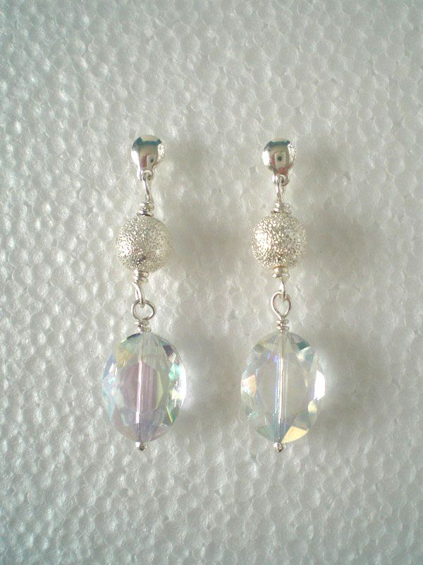 Sterling Silver and Crystal earrings - Michela Creazioni