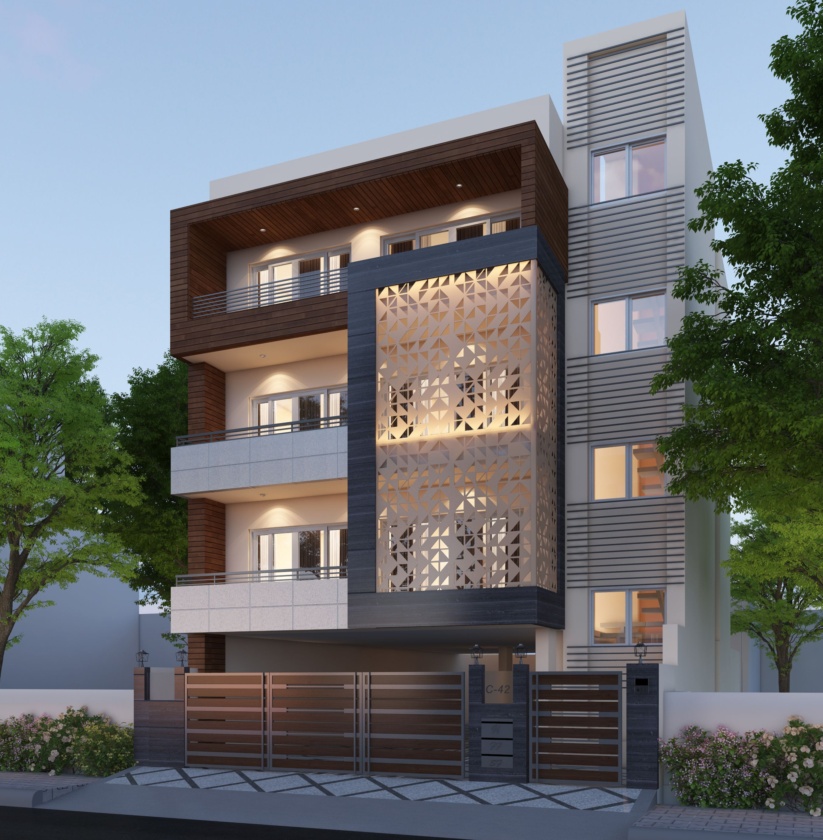 Home Facade Concept Developed By Our Architects For One Of