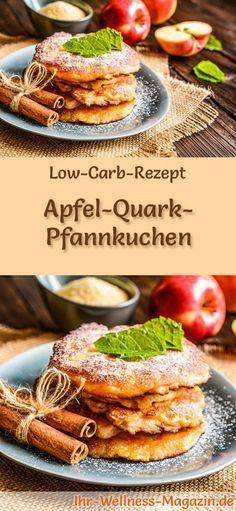 Low Carb Apfel-Quark-Pfannkuchen - gesundes Rezept fürs Frühstück #apfelmuffinsrezepte