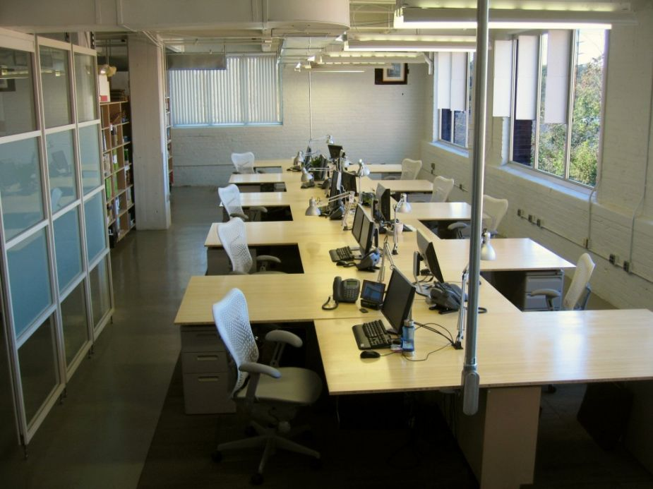 Office Worke Top Entrancing Layout Design Ideas Captivating White Brick Wall With Grey Arm Chairs And Gl