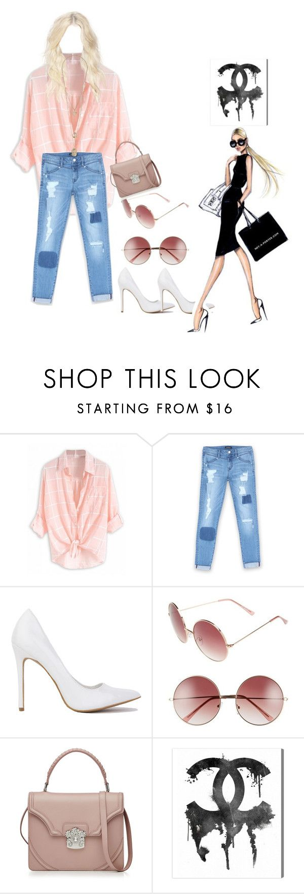 """""""I'm """" by remooooo ❤ liked on Polyvore featuring Bebe, A.J. Morgan, Alexander McQueen and Oliver Gal Artist Co."""