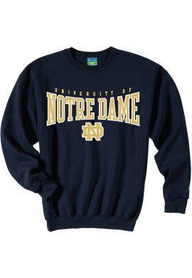 8b3f38cd986f Product: University of Notre Dame Crewneck Sweatshirt | Sweaters in ...