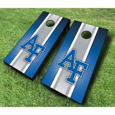 AJJCornhole NCAA 10 Piece Striped Cornhole Set NCAA Team: San Jose State Spartans