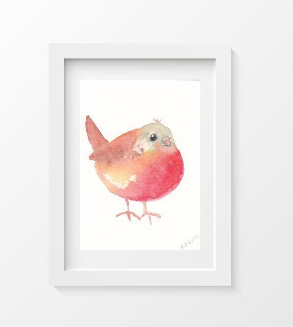 Hey, I found this really awesome Etsy listing at https://www.etsy.com/listing/198589285/8x10-bird-print-chubby-bird-cuddly-robin