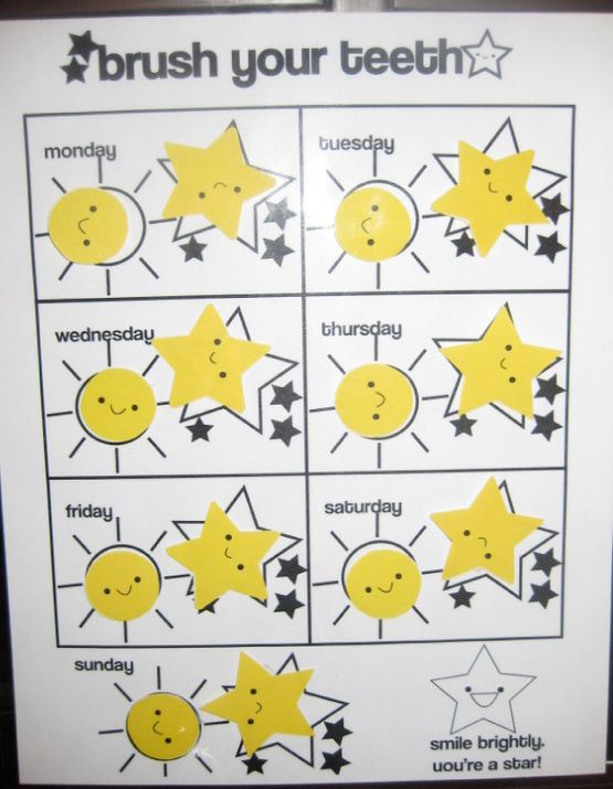 Free Chart For Kids  Brush Your Teeth Chart  Free Printables