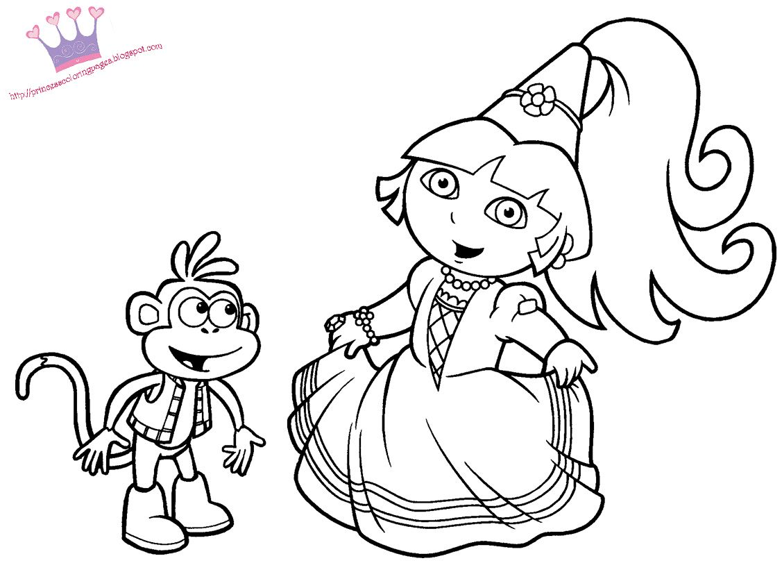 Princess coloring book pages - Princess Coloring Pages