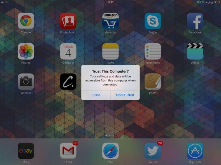 How to fix the ipad and iphone trust bug on ubuntu ios