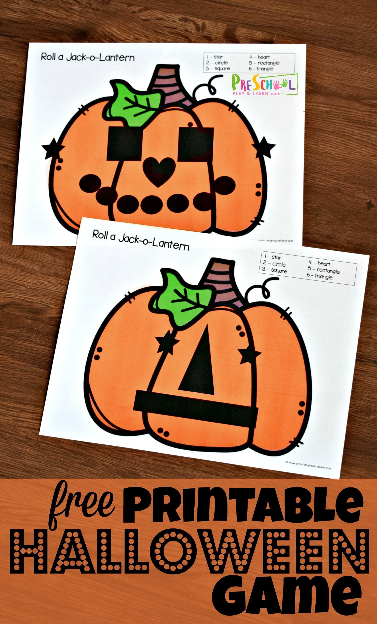 Super Cute Free Printable Halloween Game For Kids Of All