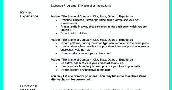 The Order of Good Chronological Resume Sample share Pinterest - chronological resume