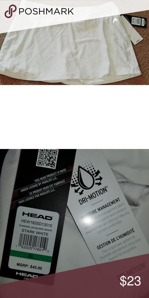 f27b9f457e HEAD Tennis lined shorts. White Xl Brand new tags HEAD tennis lined shorts.  Dry -Motion material. REFLECTIVE TAGS Head Skirts