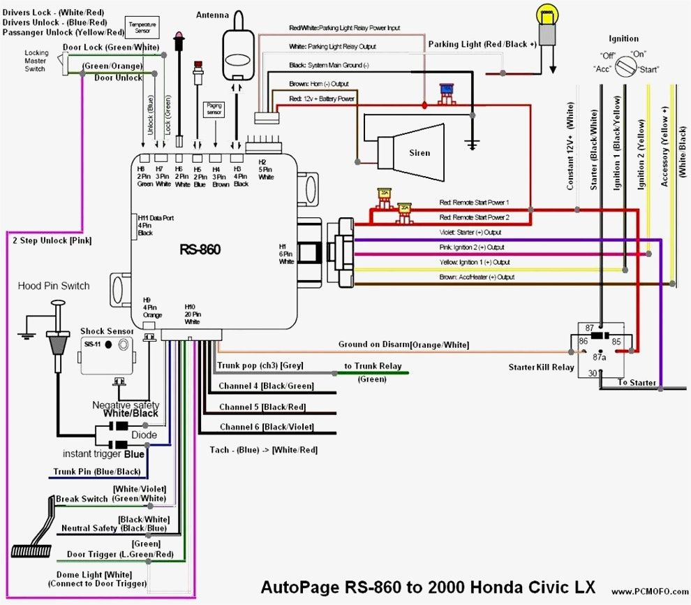 Burglar    Alarm       Wiring       Diagram    Pdf  1      Wiring       Diagrams      Honda civic car     Diagram     2000 honda civic