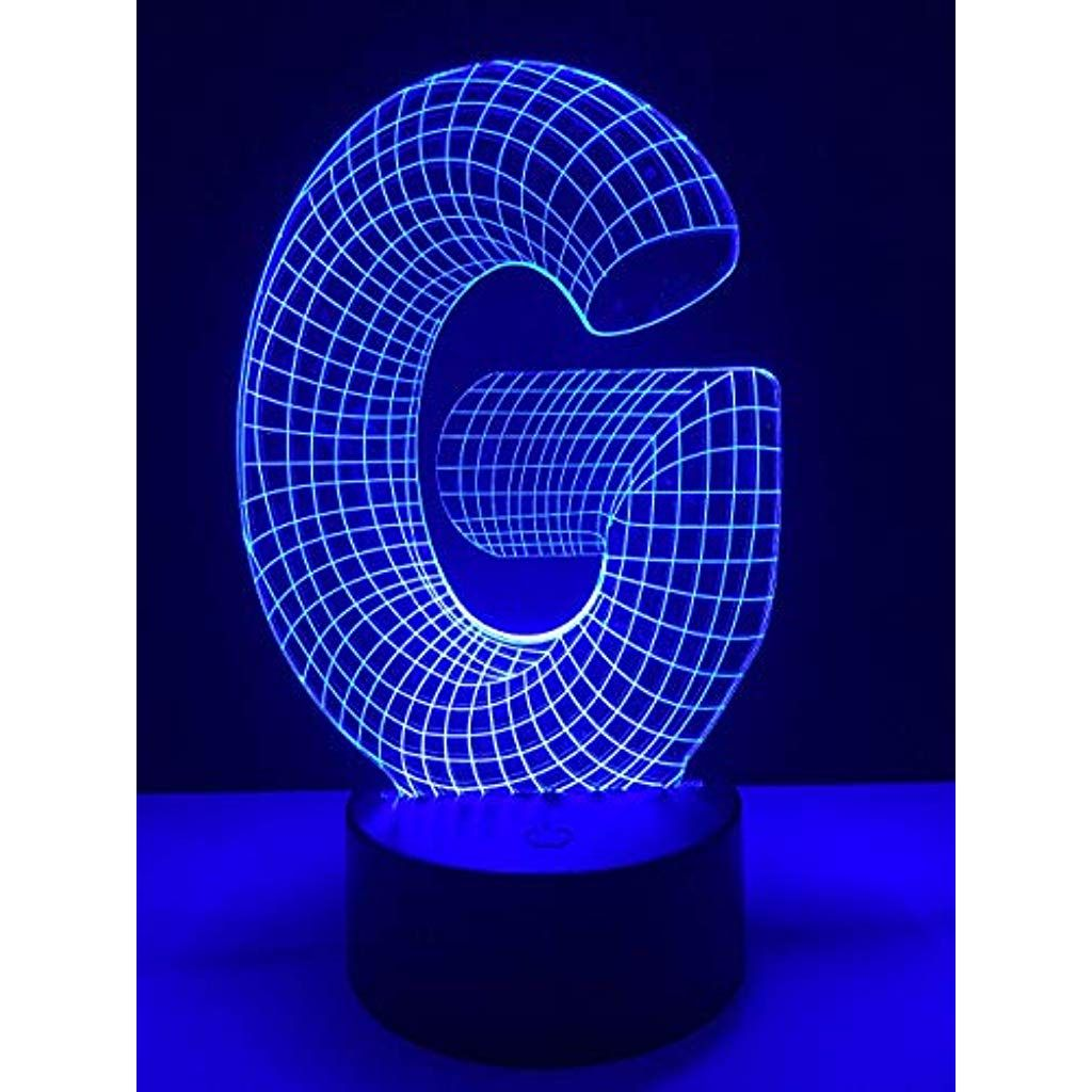 Nachtlichter Schlummerleuchten 3d Led Alphabet Buchstabe G Lampe Illusion 7 Farbe Verdunkelung Gradienten Rgb Nachtlicht K In 2020 Nachtlicht Nachtlicht Fur Kinder Led