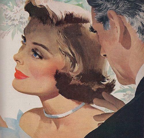 1950's Couple - Magazine illustration