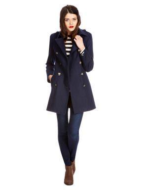 149bb15407b3 Oasis Military coat Navy - House of Fraser | Beautiful coats | Coat ...