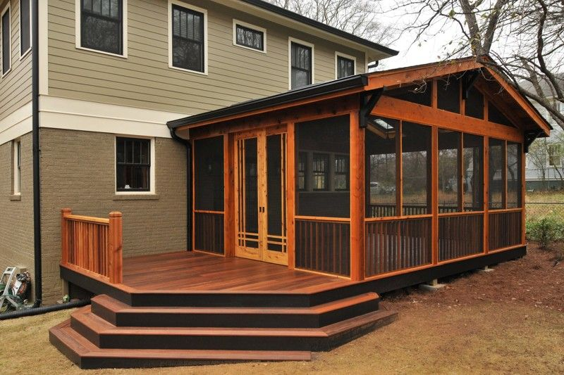 Screened Porches Get Plenty Of Action In The Fall From Serving As Spots For A Morning Coffee Or An Evening Porch Design Backyard Patio Screened Porch Designs