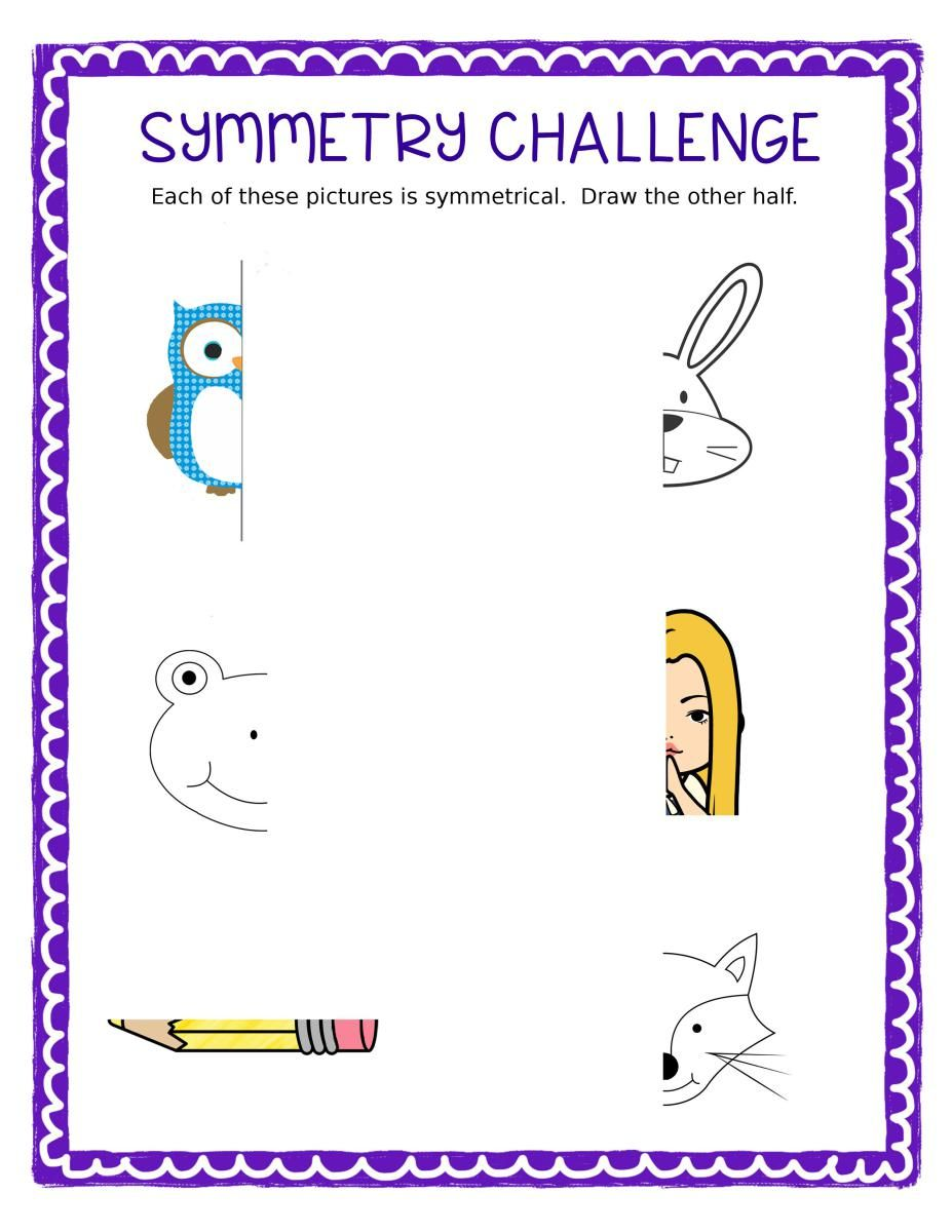 Free Symmetry Challenge Sheet | Bell ringers, Activities and Students