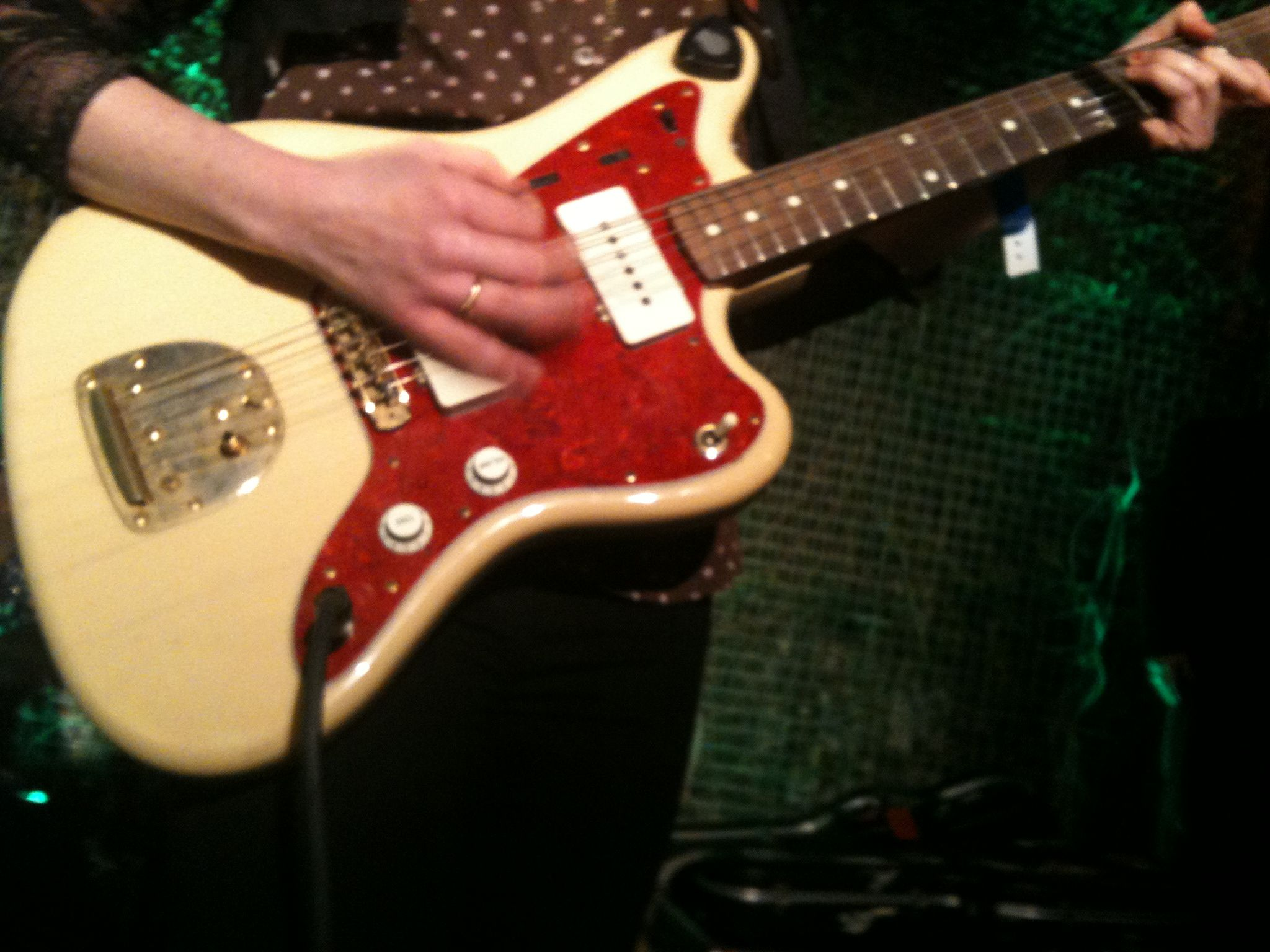 Electric guitar action!