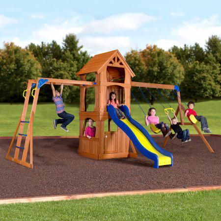 Backyard Discovery Parkway Wooden Swing Set # ...
