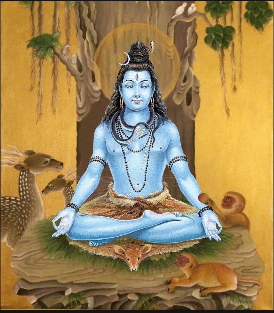 Lord Shiva As Adiyogi In Creative Art Painting Hindu Art Shiva Art Lord Siva