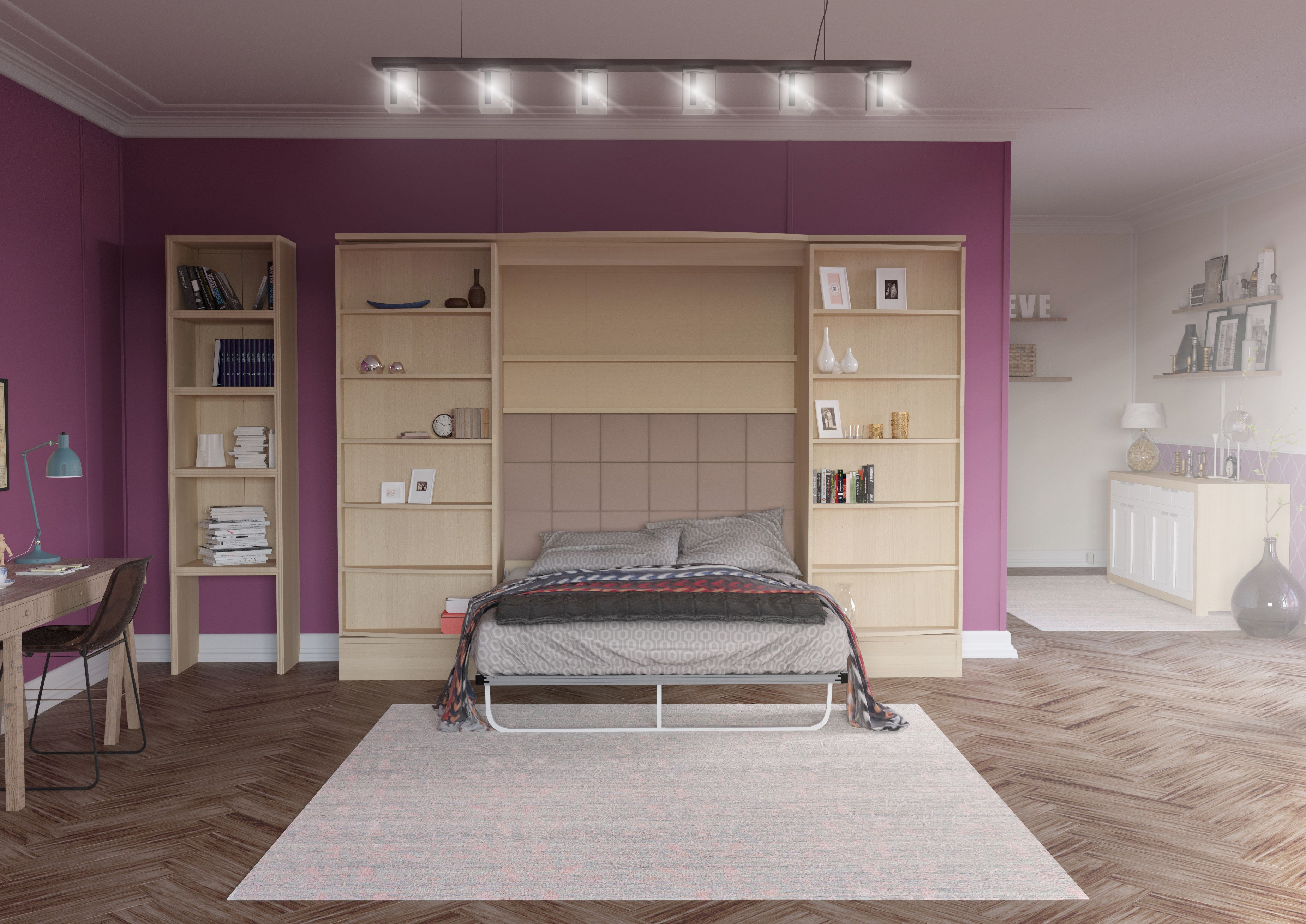 Vetrino Queen Wall Bed Wall bed, Bed, Space saving beds