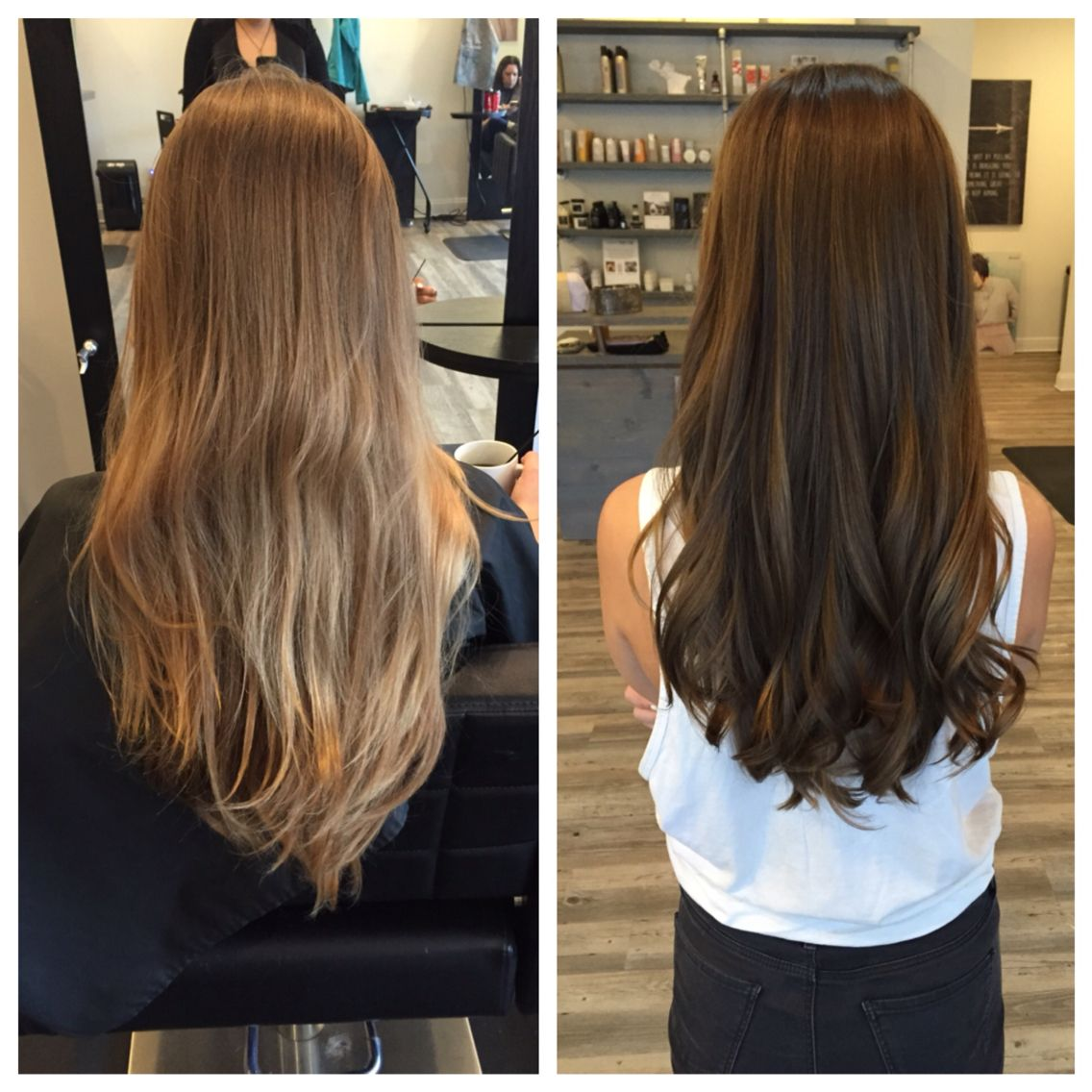 Natural Blonde To Root Color Brunette With Images Hair