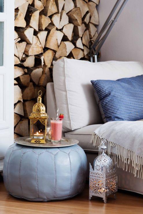 Leseecke im Wohnzimmer , Tags Orientalisch + LAterne + Ikea +