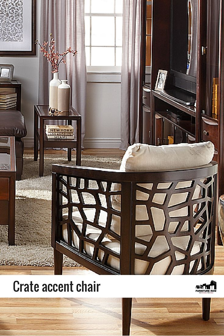 Swell This Sculpted Wood Crate Accent Chair Features An Open Airy Ncnpc Chair Design For Home Ncnpcorg