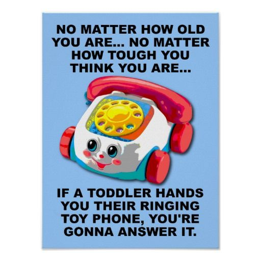 Toddler Phone Funny Poster Sign