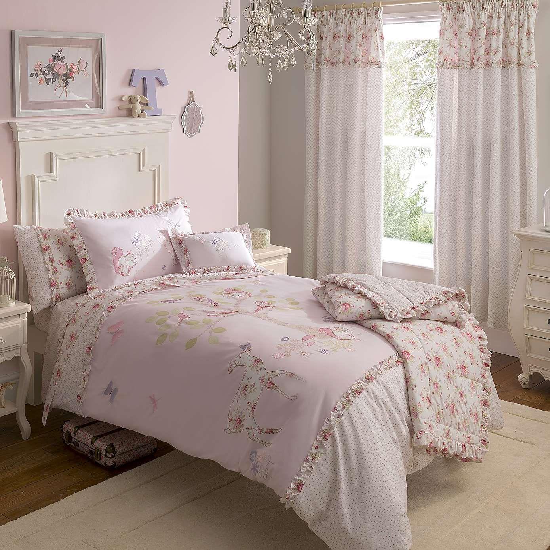 Dorma Woodland Pink Duvet Cover And Pillowcase Set