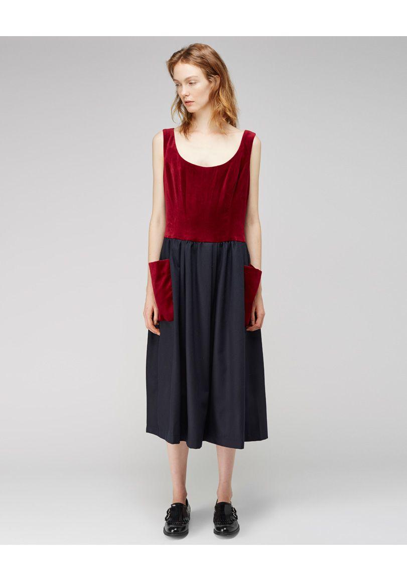 Comme des Garons Shirt / Velvet Patch Pocket Dress | La Gar�onne | La Garconne