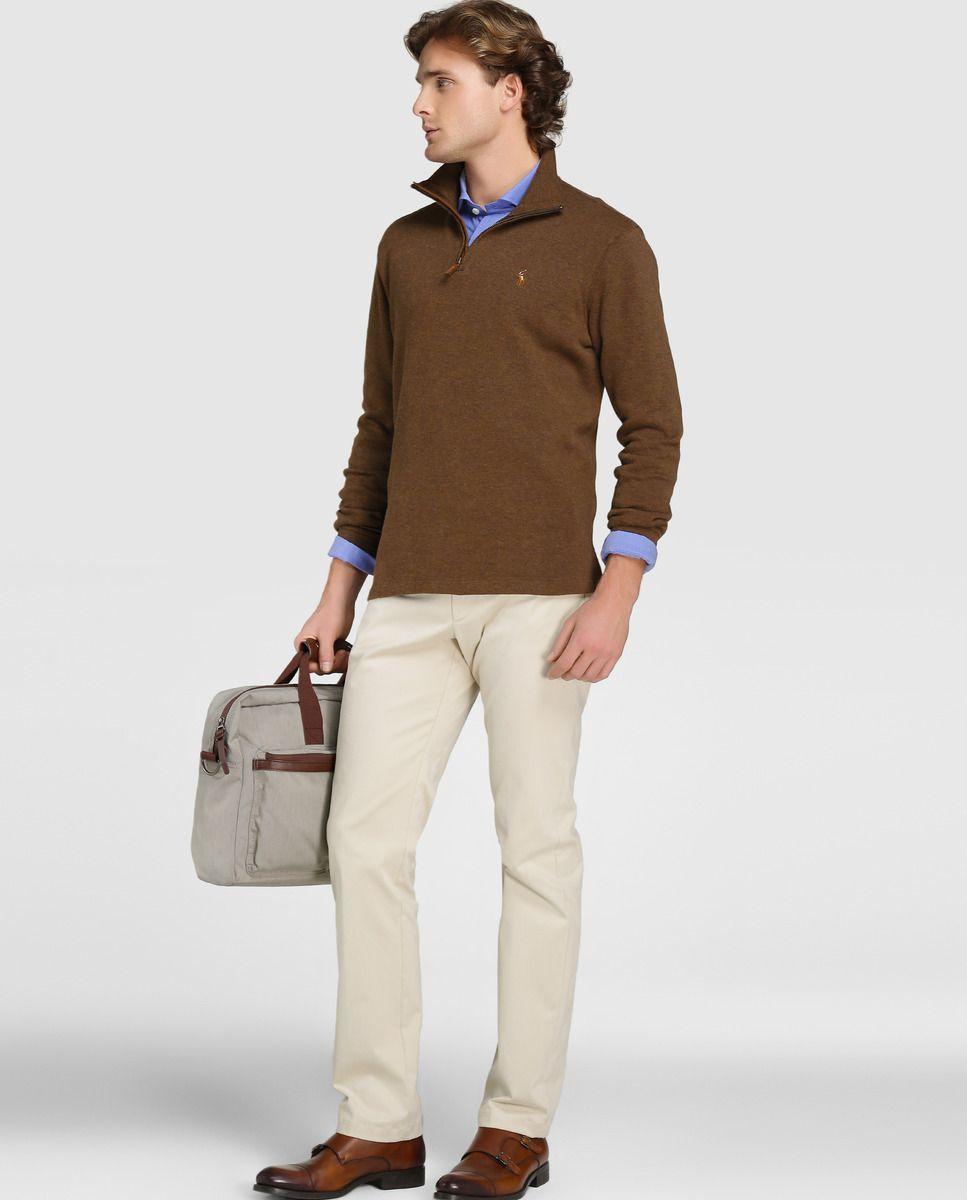 Jersey de hombre Polo Ralph Lauren marrón con el cuello alto · Polo Ralph  Lauren · Moda · El Corte Inglés e78cf04336