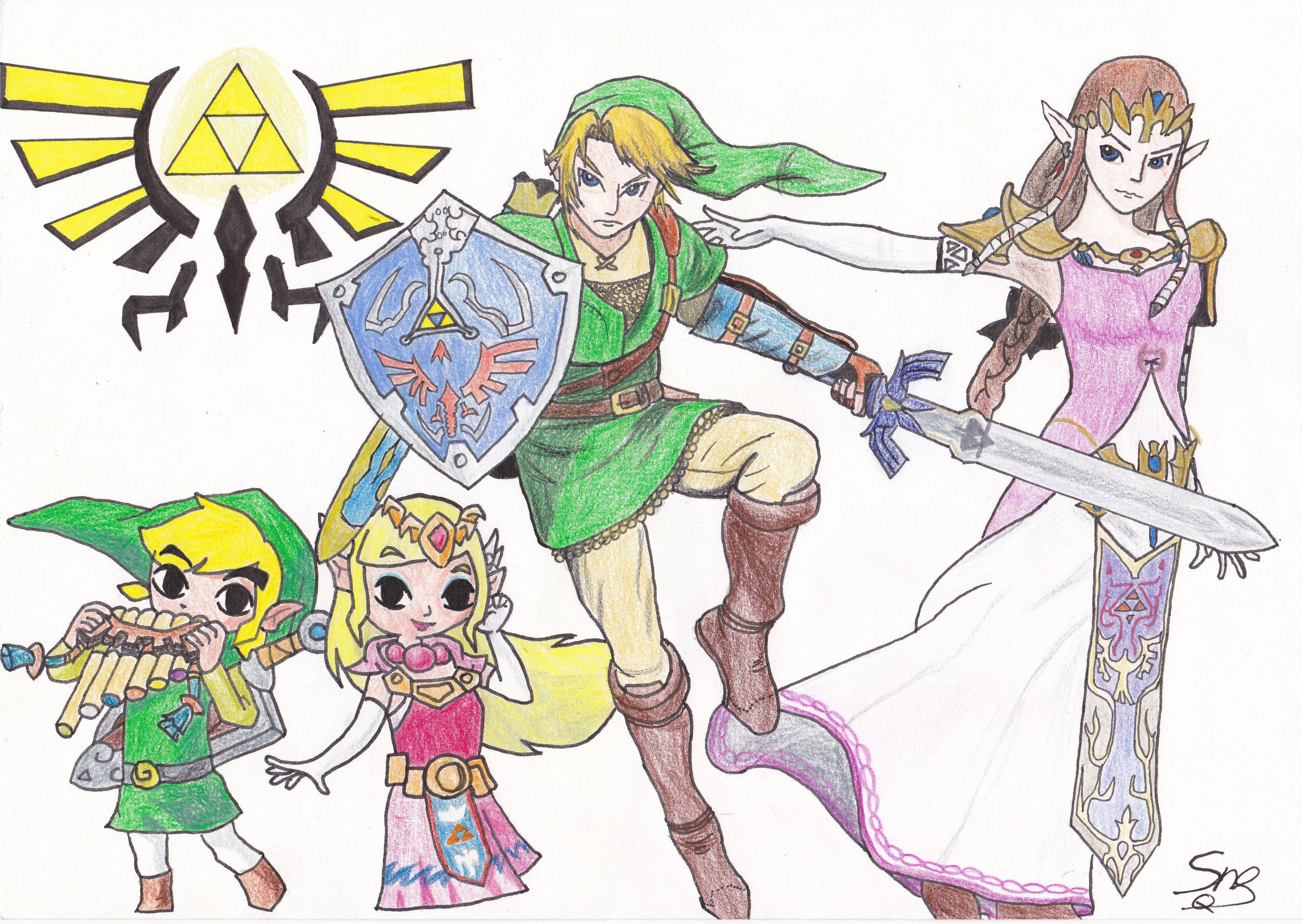 duo de link et zelda - Link Et Zelda