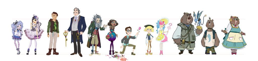 Ever After High Character Lineup By Ayanimeya