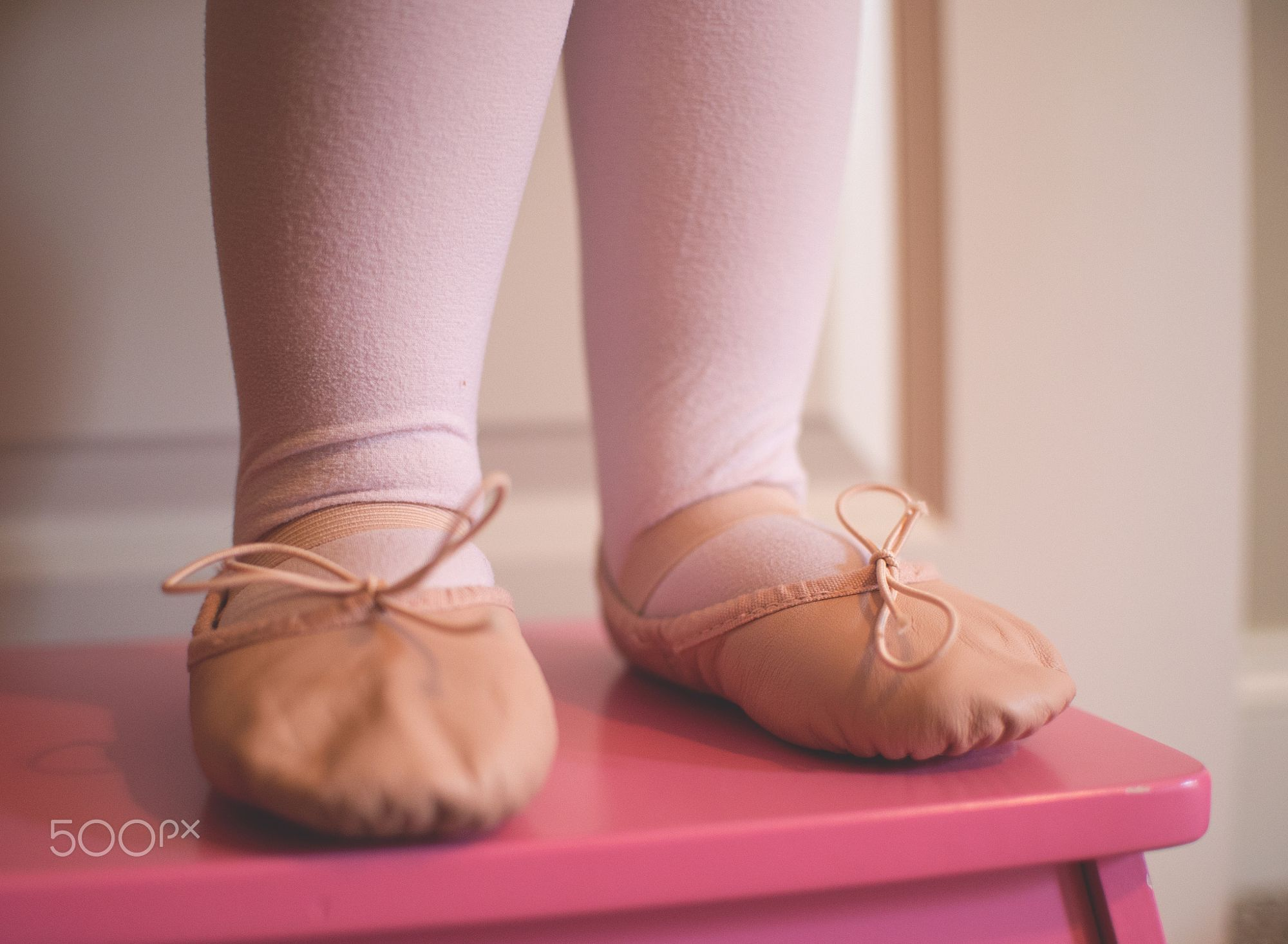 first pair of ballet slippers