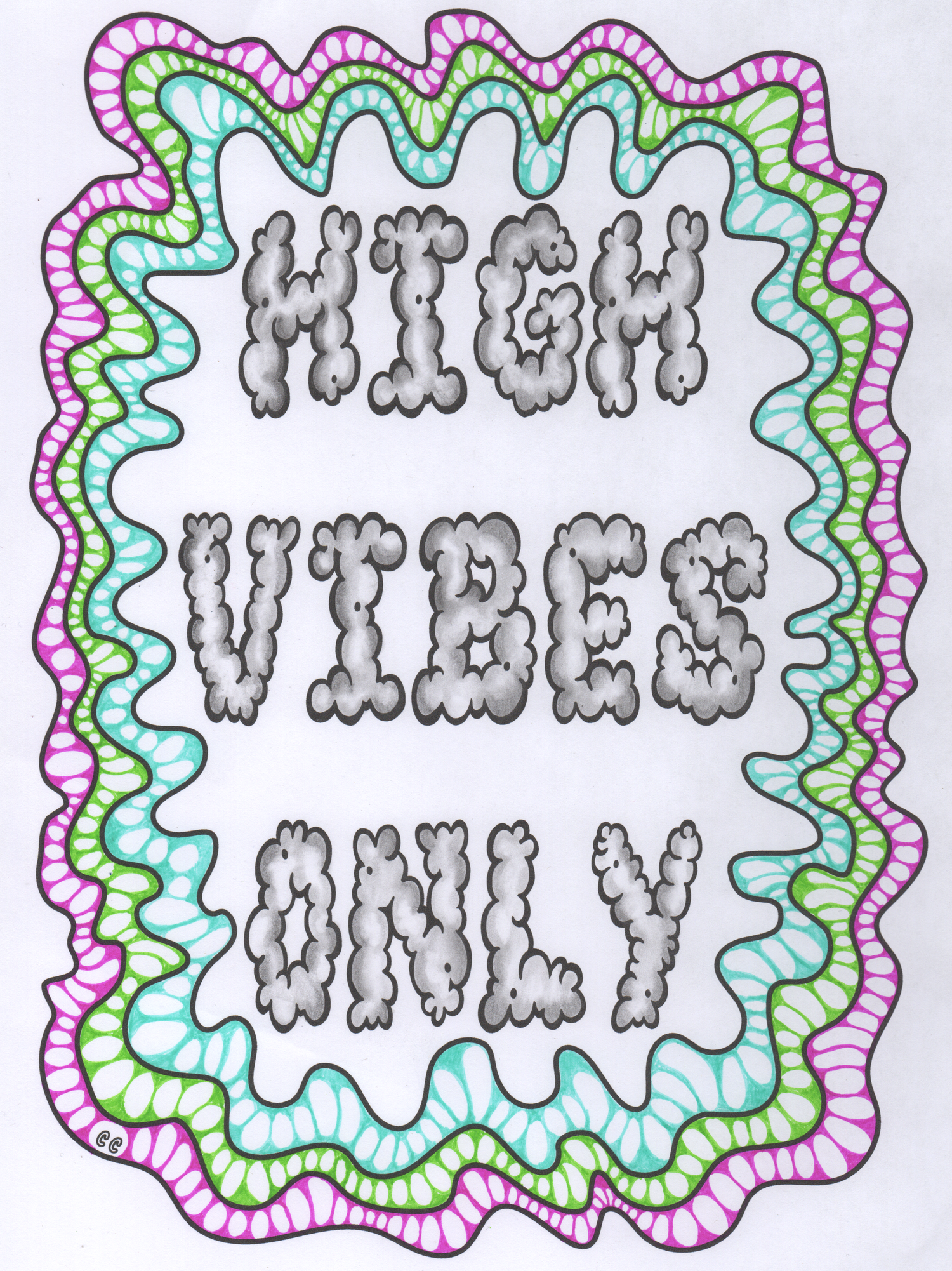 Coloring Page from Color Me Cannabis the Marijuana Themed Coloring ...