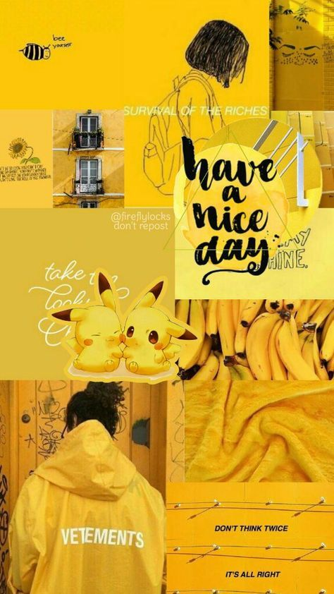 69+ Trendy Wall Paper Aesthetic Collage Yellow