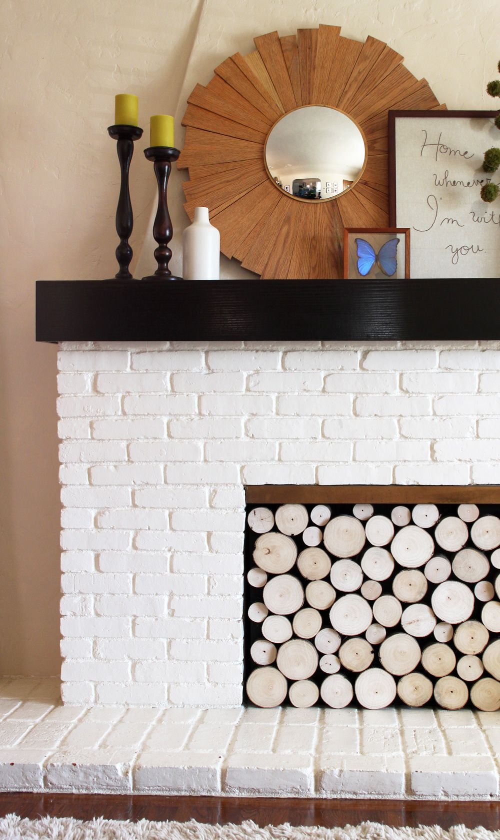 Diy idea create a removable fauxlog front fireplace pinterest
