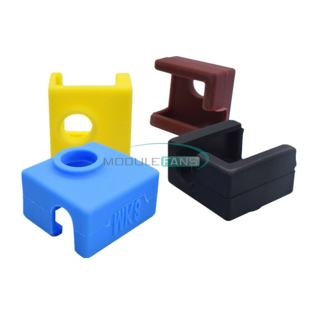 Black//Blue//Yellow//Brown 3D Printer Silicone Sock Heater Block Cover V6 Protect