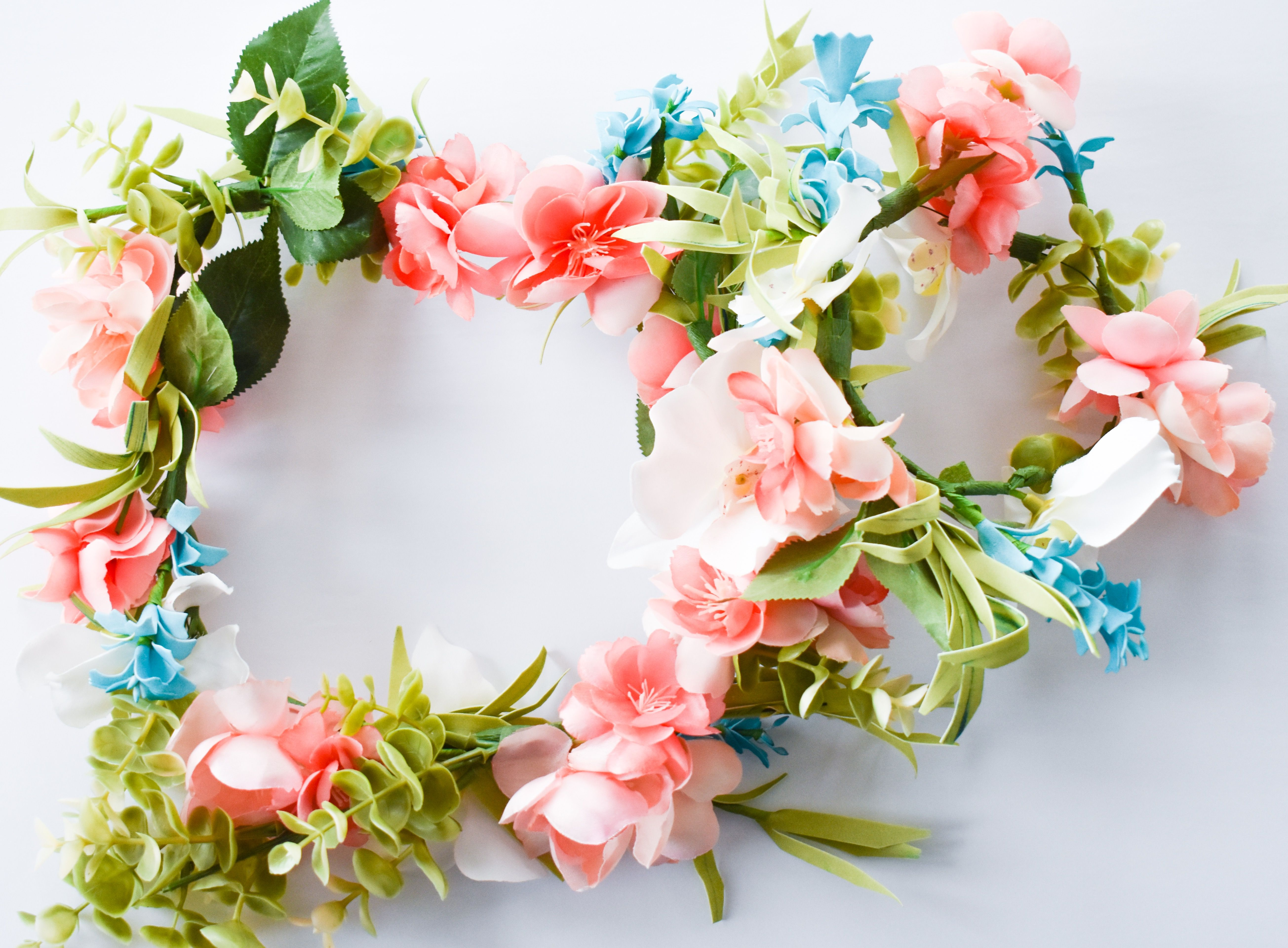 How To Make A Flower Crown With Fake Flowers Easy Diy Tutorial In