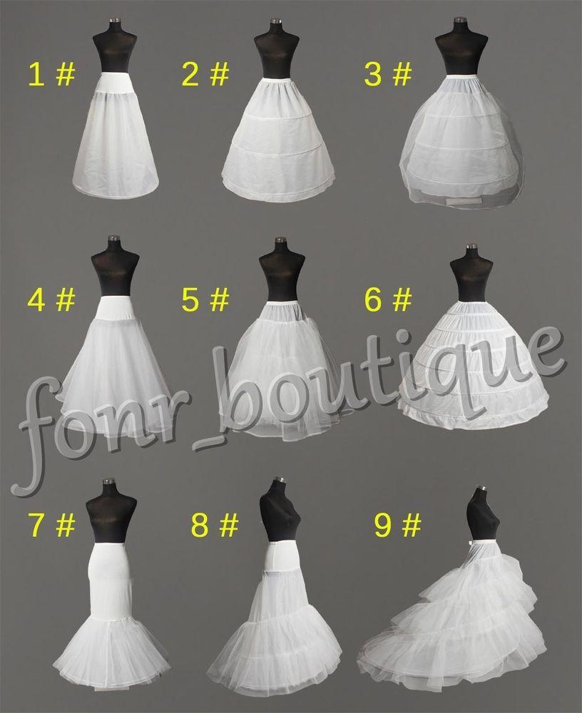 WHITE 2-HOOP WEDDING PROM MERMAID PETTICOAT BRIDAL UNDERSKIRT CRINOLINE DRESS UK