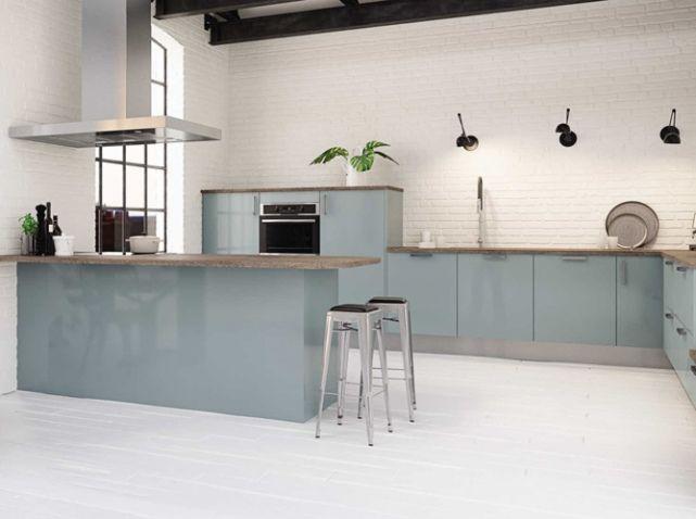 cuisine color e bleue hygena cuisine pinterest cuisines color es bleu et cuisines. Black Bedroom Furniture Sets. Home Design Ideas