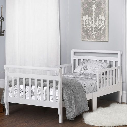 Toddler Sleigh Bed With Safety Rails Convertible Toddler Bed Toddler Bed Sleigh Beds