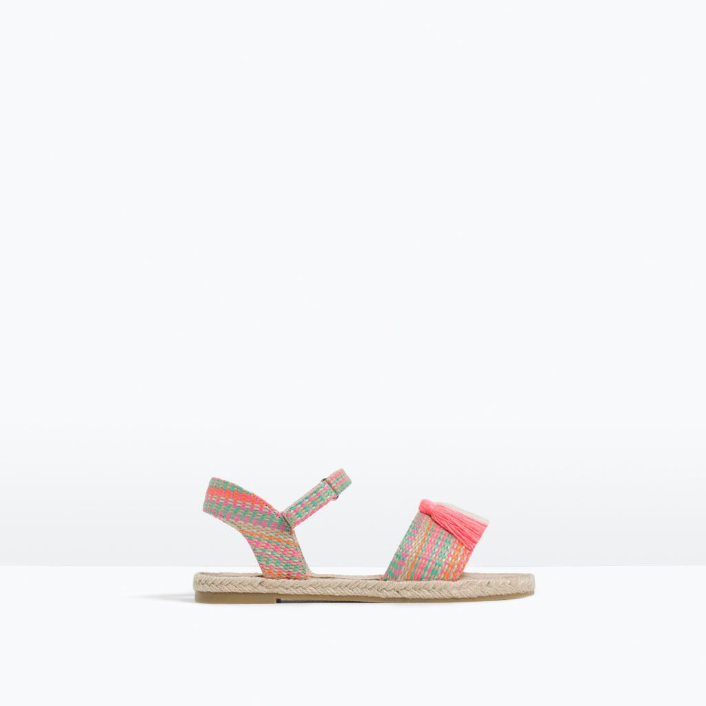 a44272fcf36 Image 1 of TASSEL SANDALS WITH JUTE DETAIL from Zara | Ava | Fashion ...