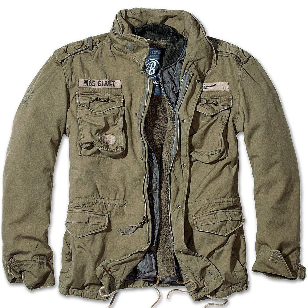Photo of Brandit Classic M65 Mens Field Jacket Warm Lining Hunting Parka Army Coat Olive  | eBay