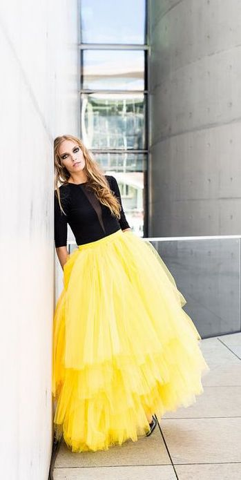 f3066098 yellow tulle skirt | FASHiON : WOMEN | Yellow dress, Fashion, Formal ...