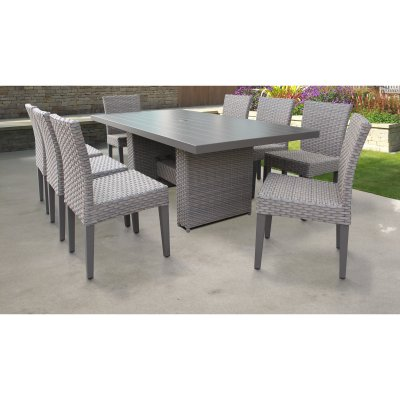 outdoor tk classics florence wicker 9 piece patio dining set with rh pinterest com